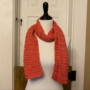 Pink Hand Crafted Knit Scarf